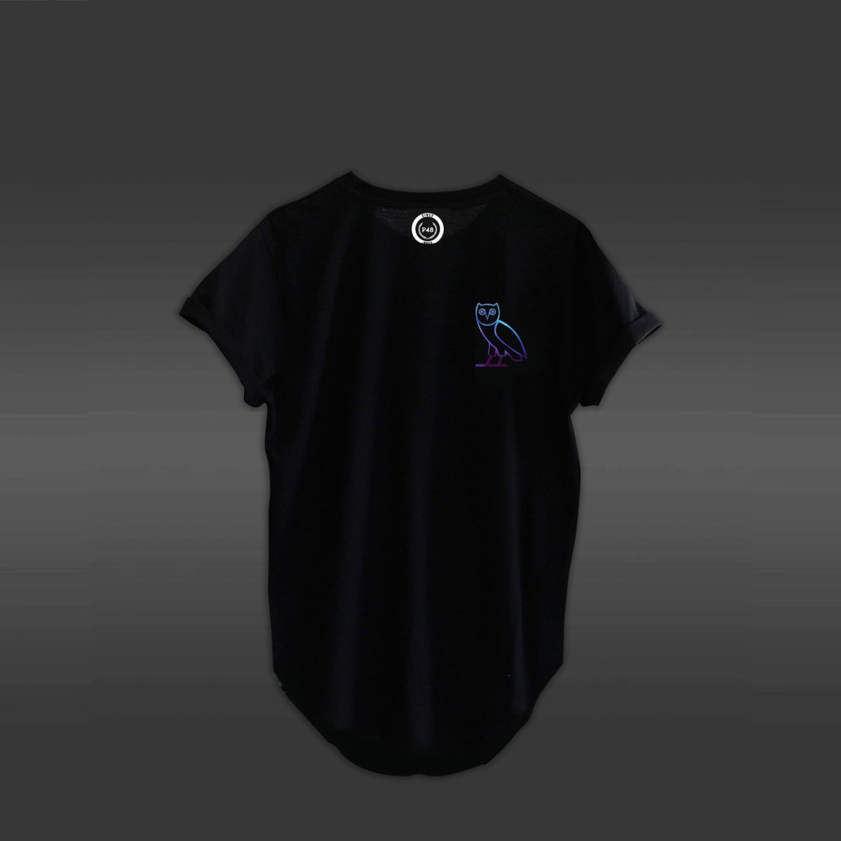 Purple Owl T-shirt - Black