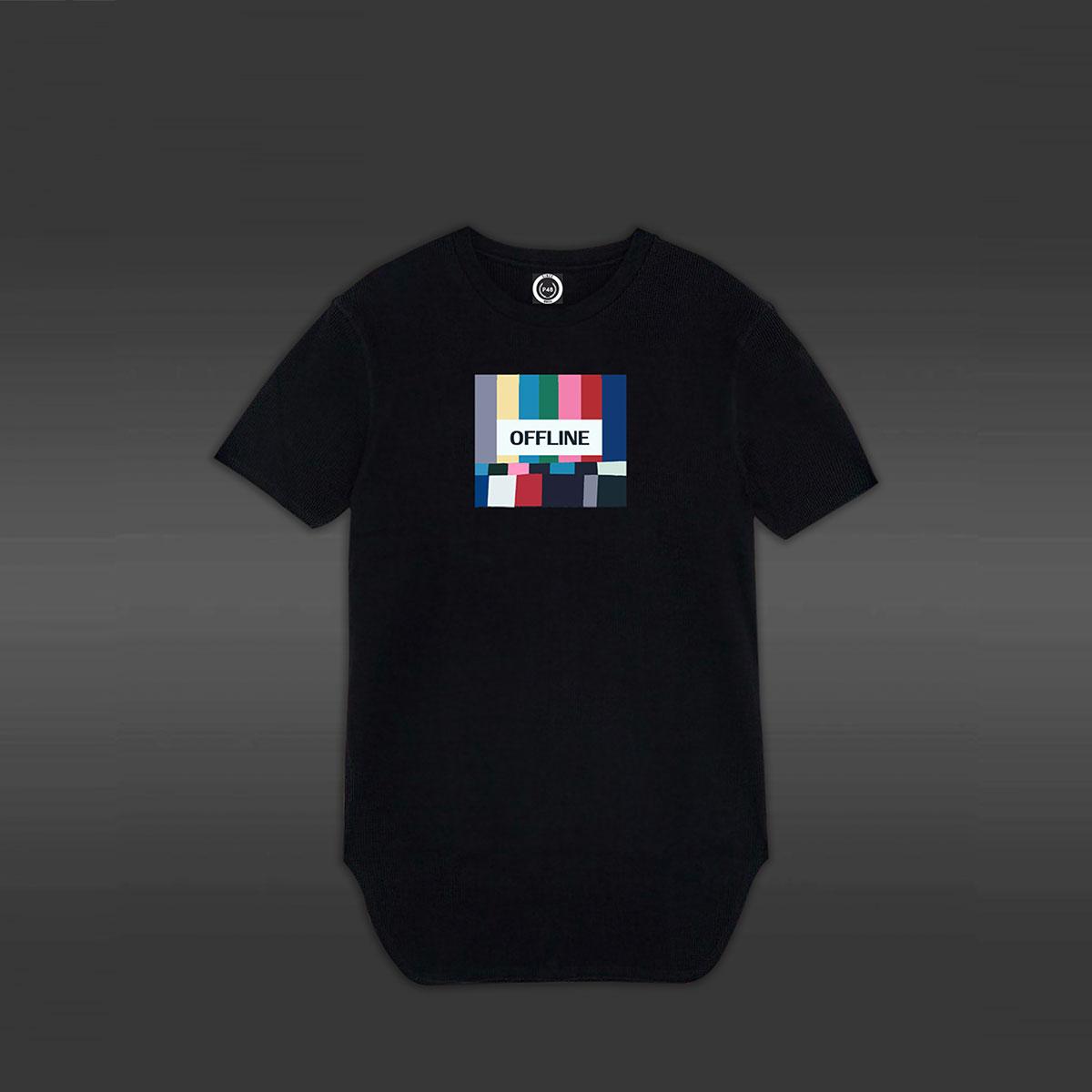 No Signal Longline T-shirt - Black