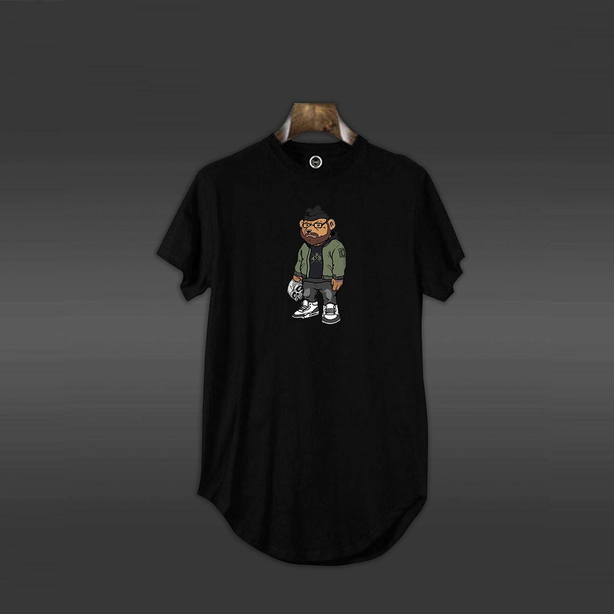 P48 Bear T-shirt - Black