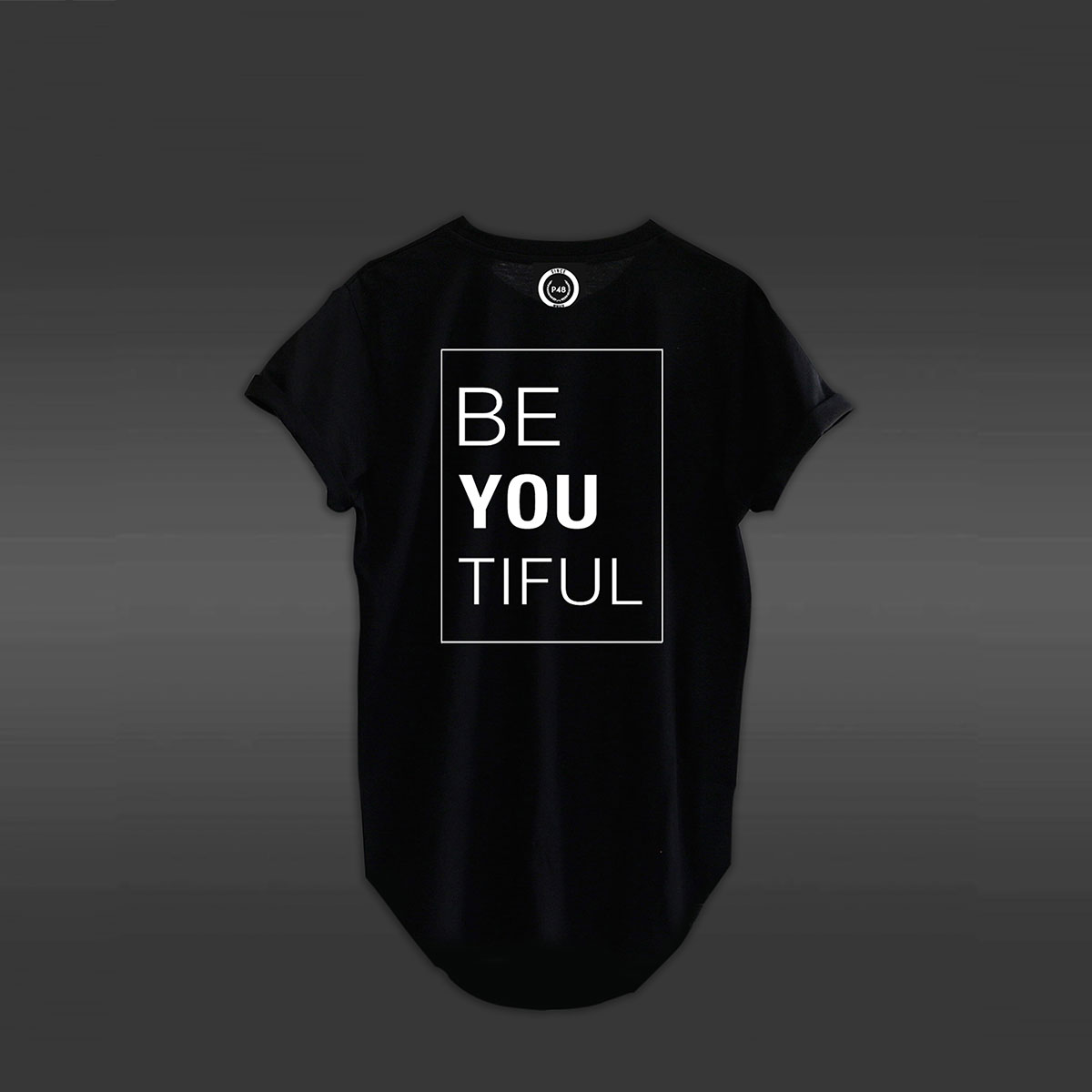 Be You Curved Hem T-shirt - Black