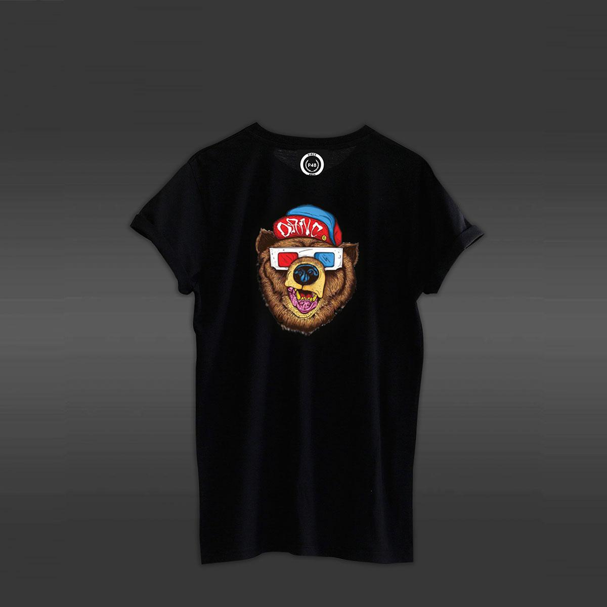 Swag Bear T-shirt - Black
