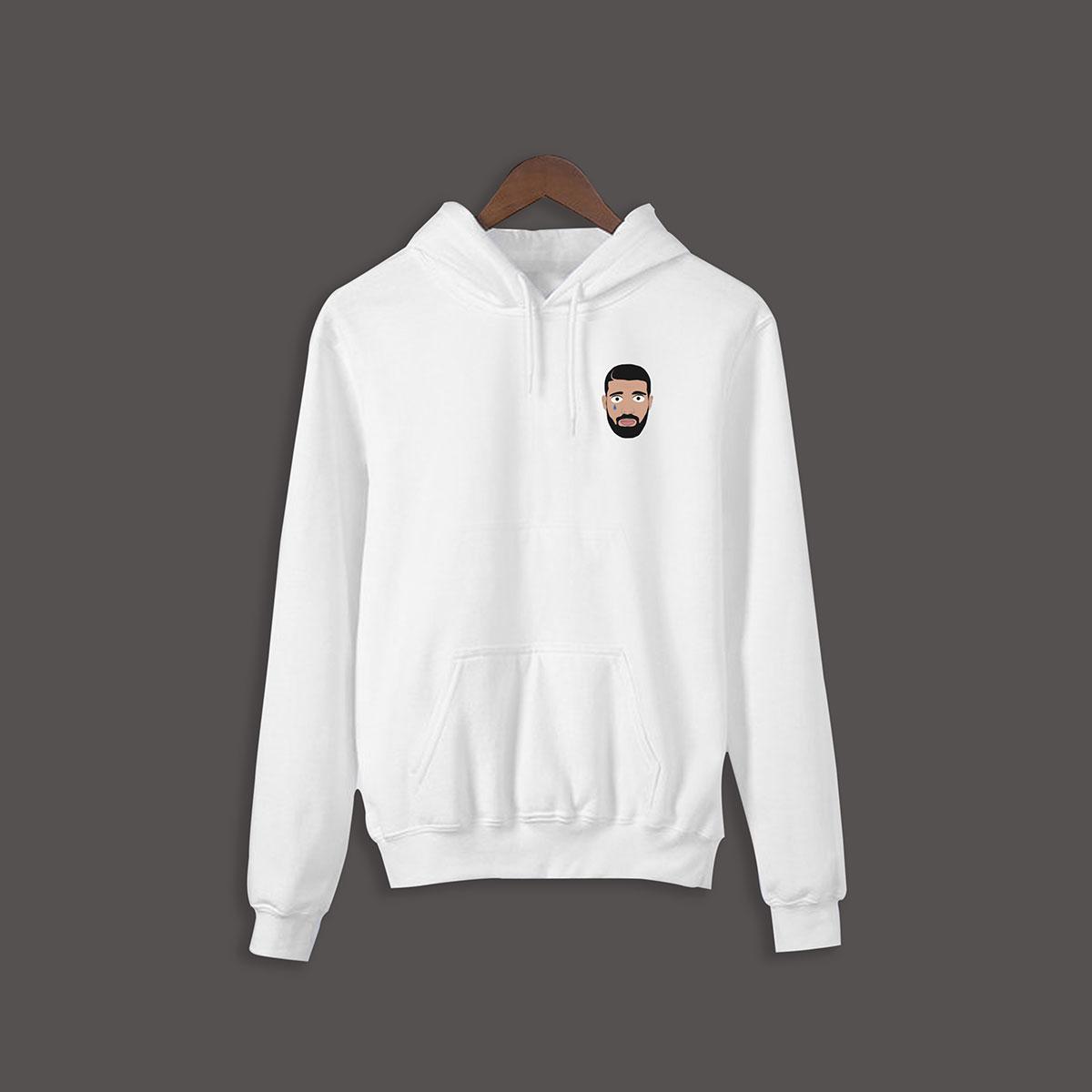 Drake  Hoodie - White