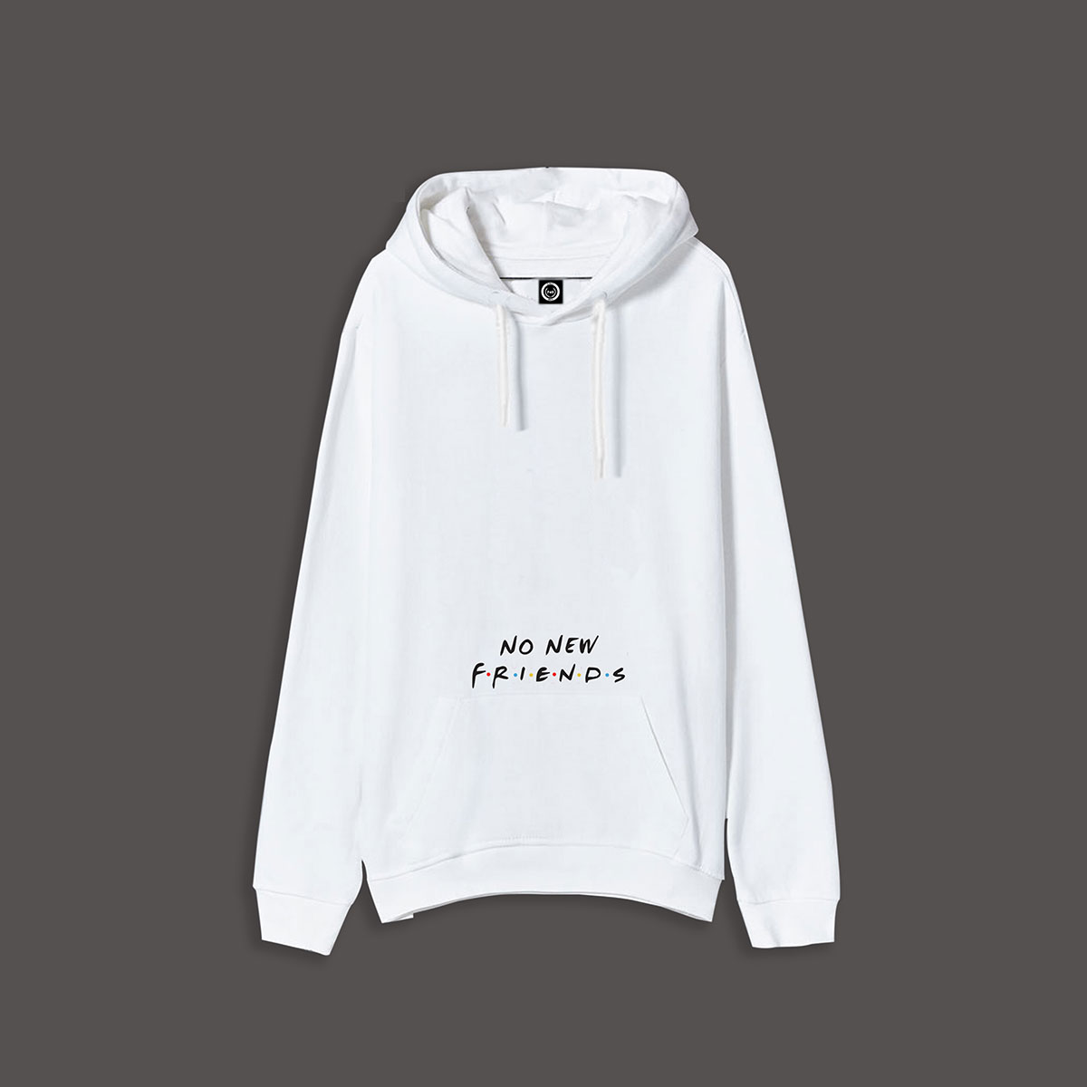 No New Friends Pullover Hoodie - White