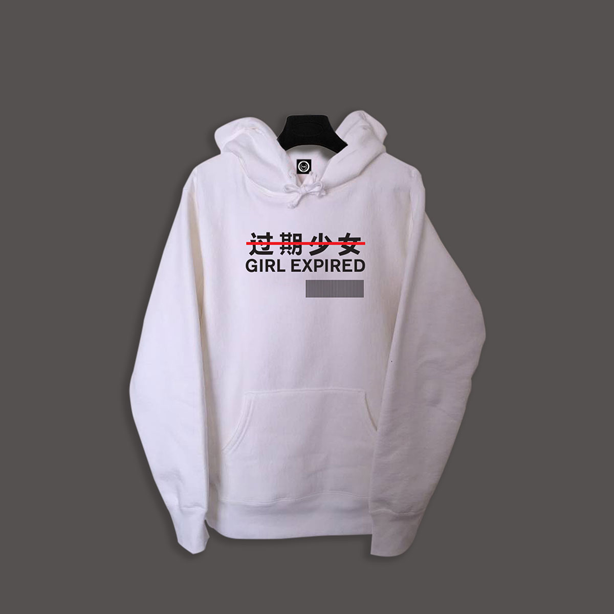 Girl Expired Pullover Hoodie - White