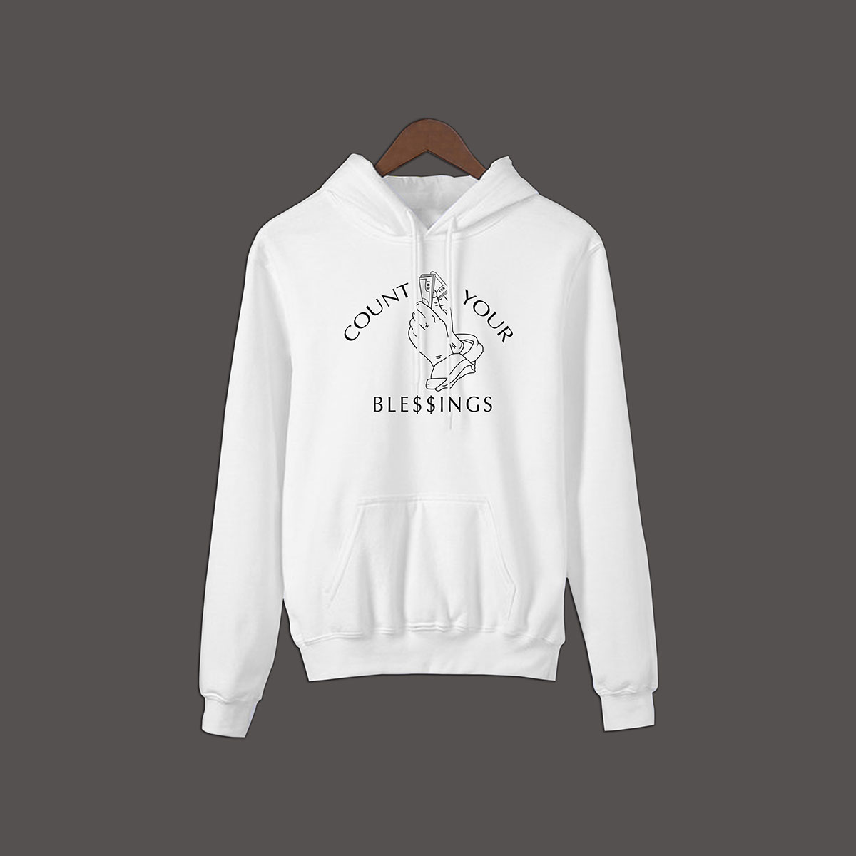 Count Your Blessings Pullover Hoodie - White