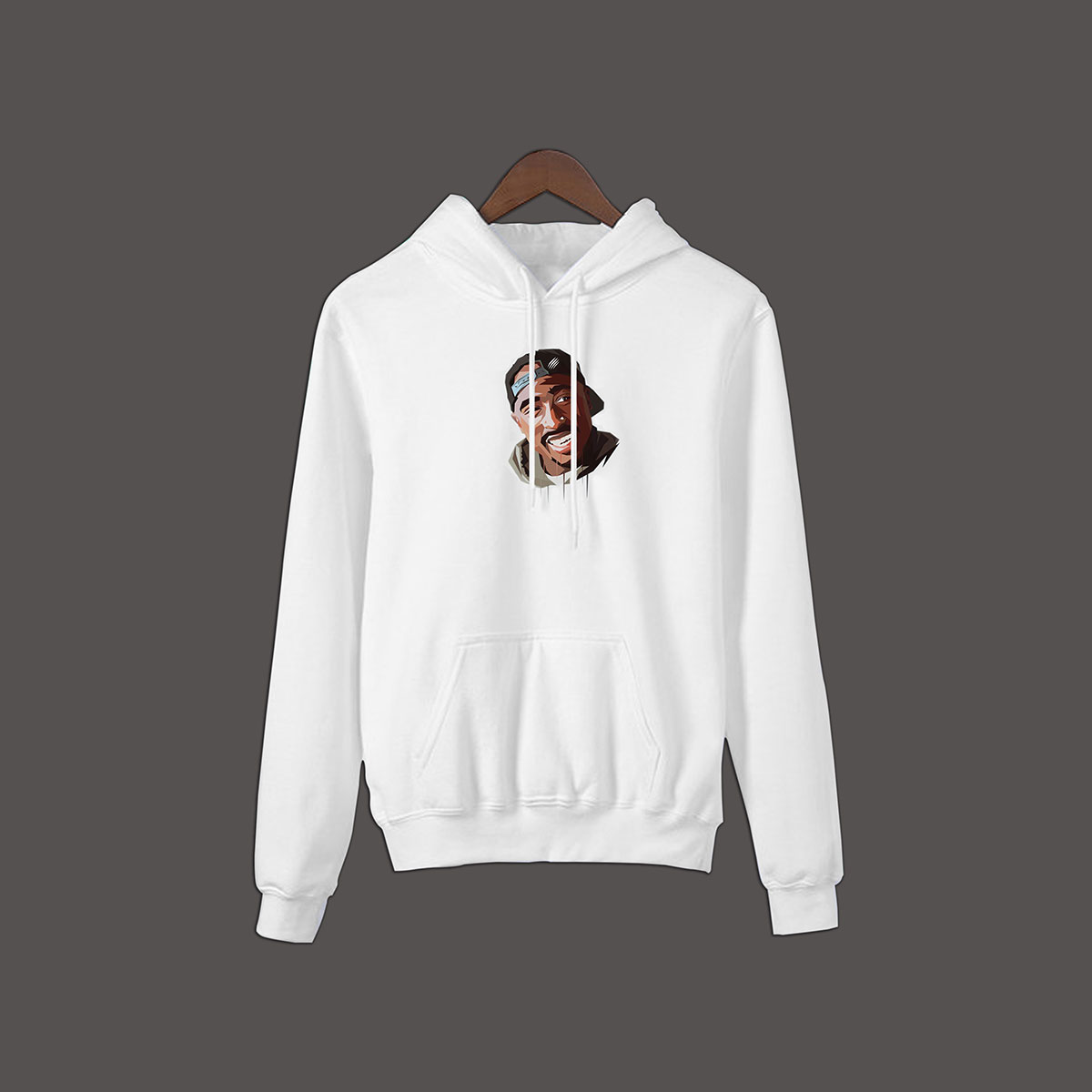 2Pac Pullover Hoodie - White
