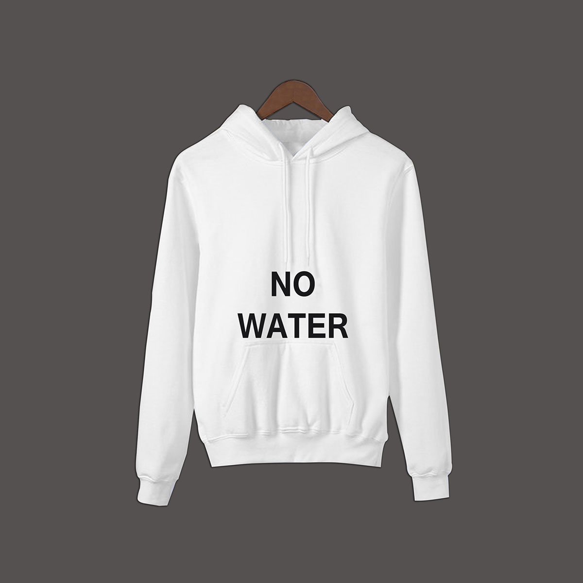 No Water Pullover Hoodie - White