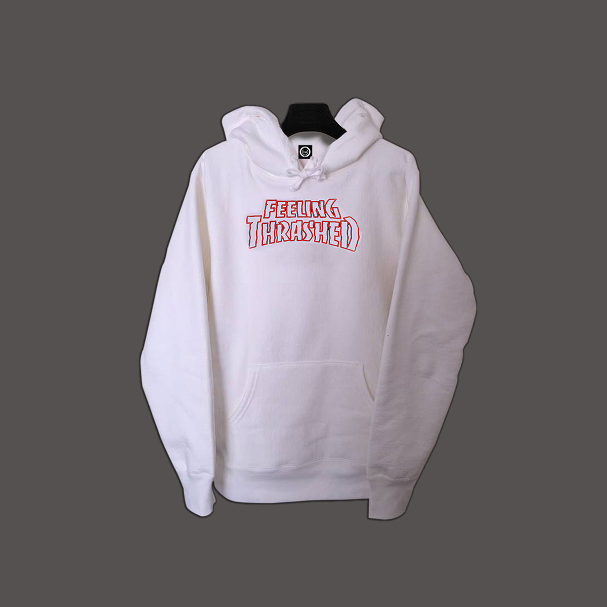 Feeling Thrashed Pullover Hoodie - White