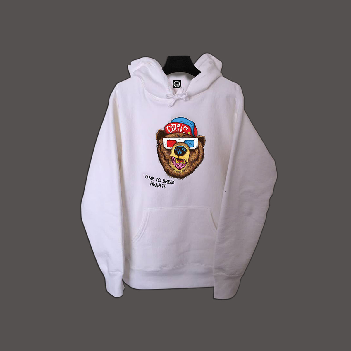 I Came Tp Break Hearts Pullover Hoodie - White