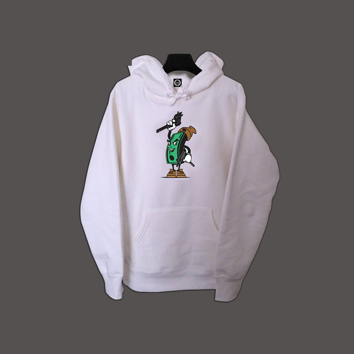 Rich Life Pullover Hoodie - White