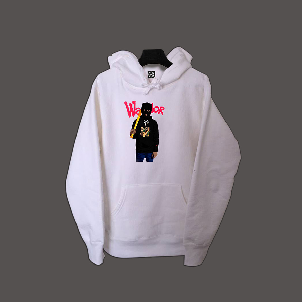 Gangster Pullover Hoodie - White