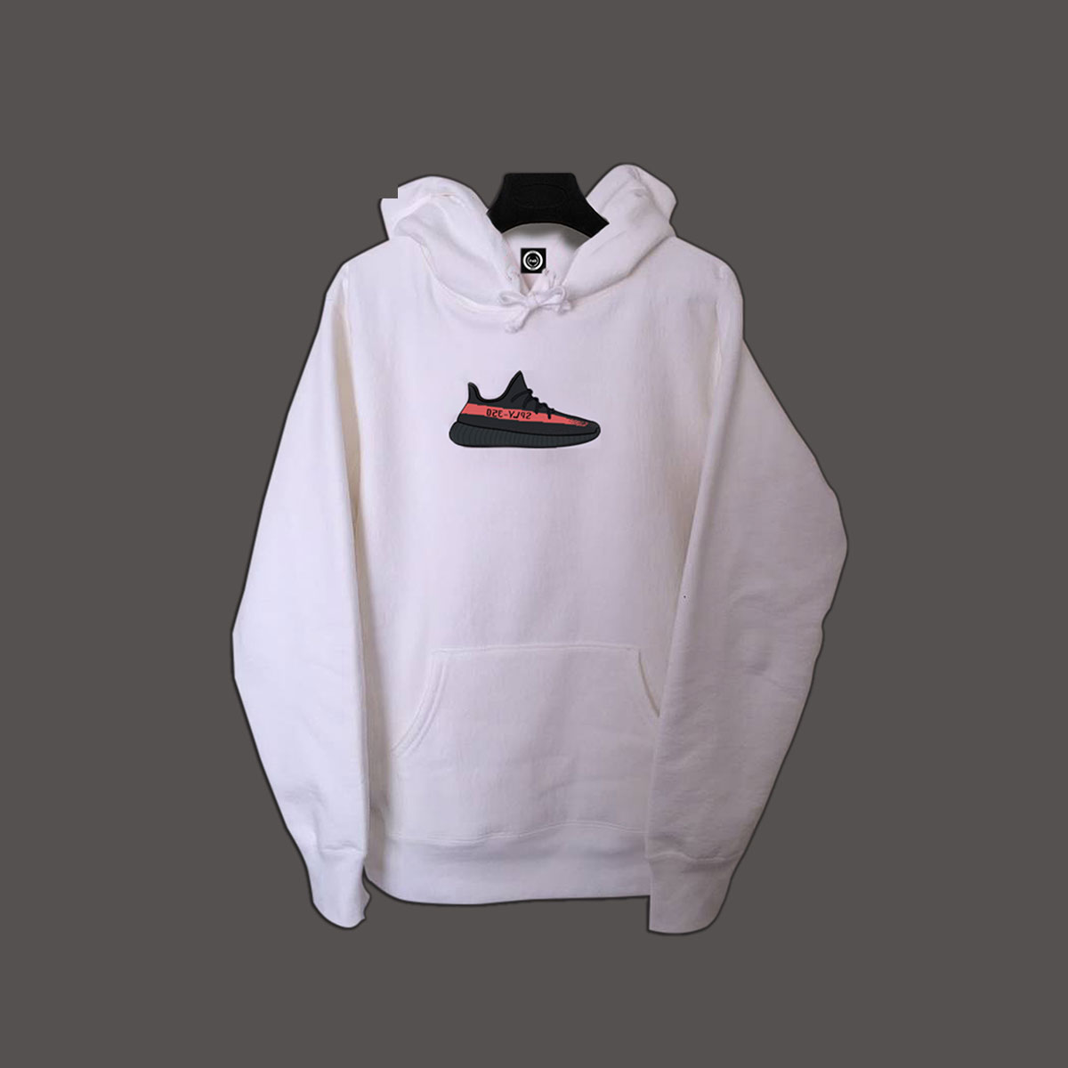Yeezy Shoe Pullover Hoodie - White