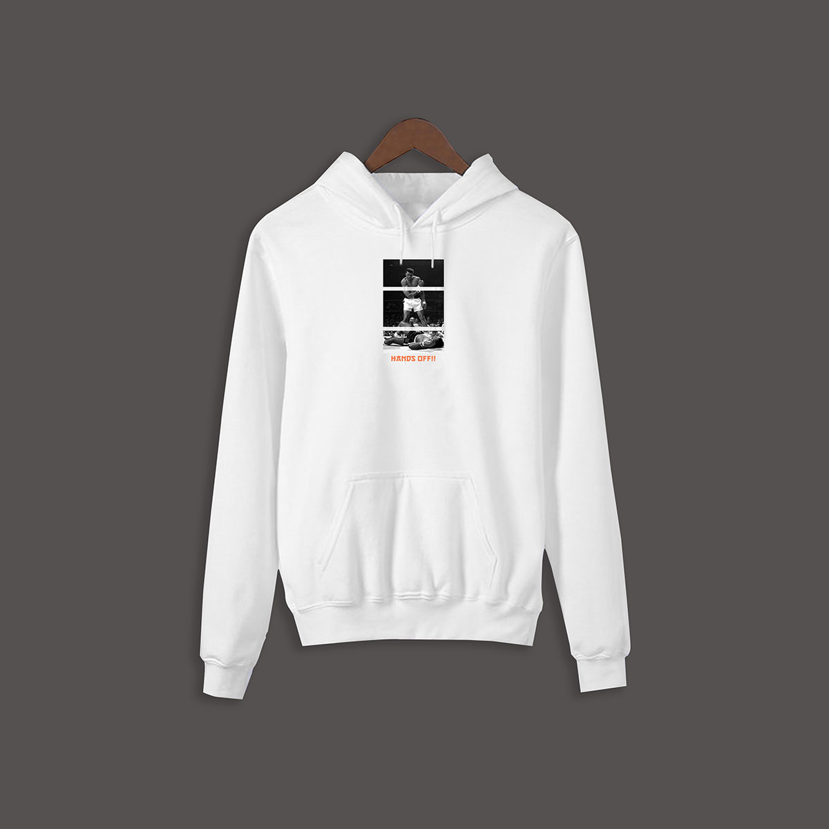 Hands Off Ali Pullover Hoodie - White