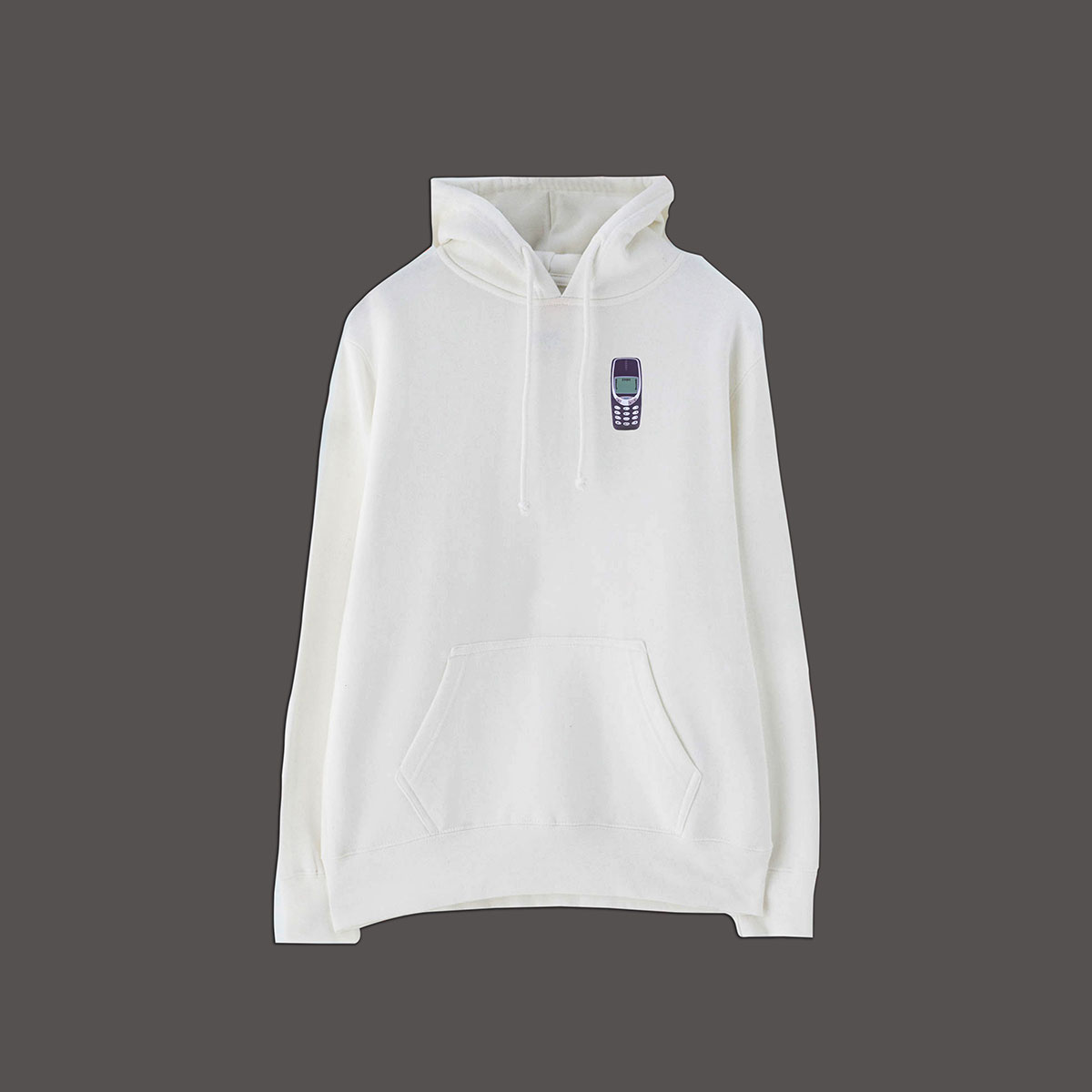 Old School Pullover Hoodie - White