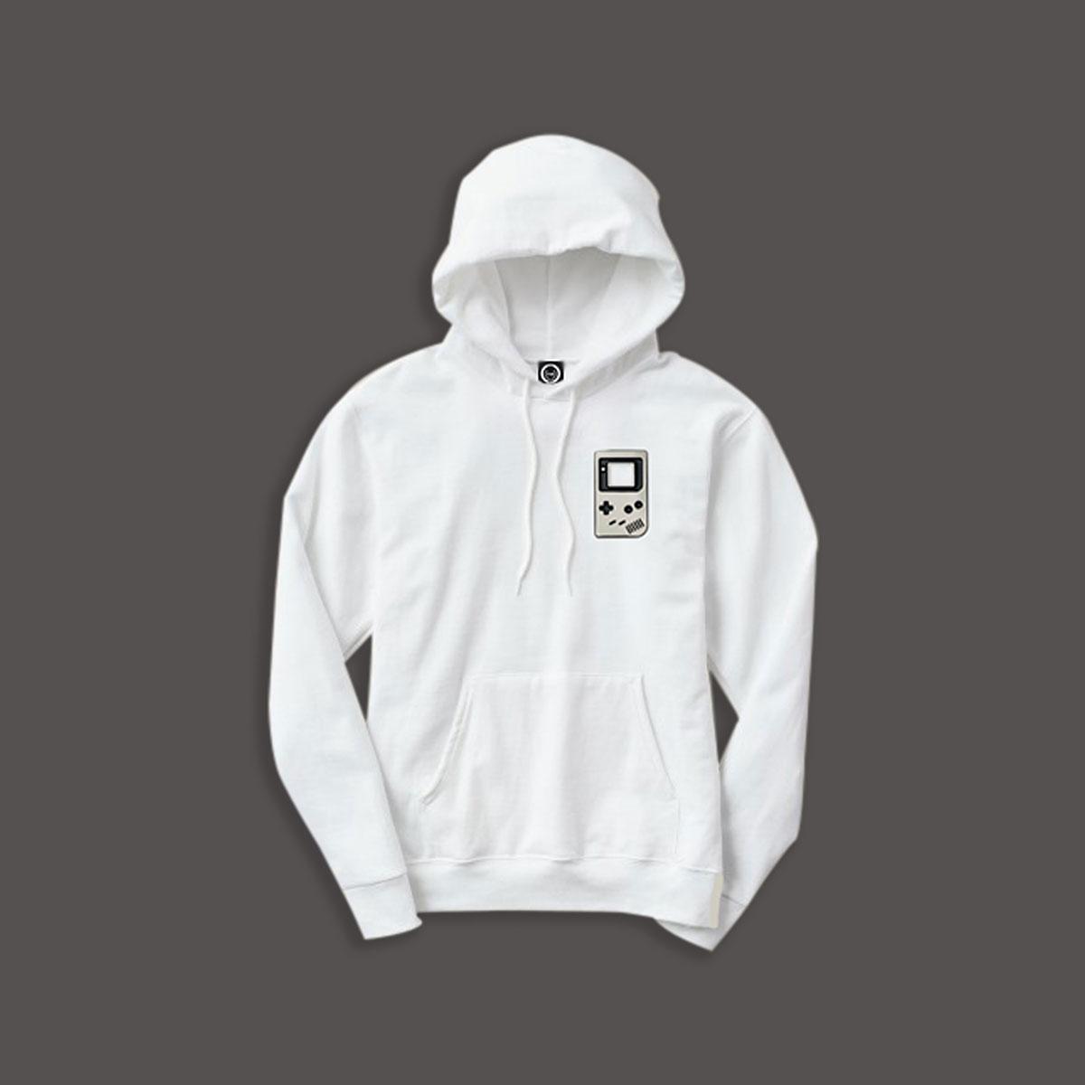 Gamer Pullover Hoodie - White