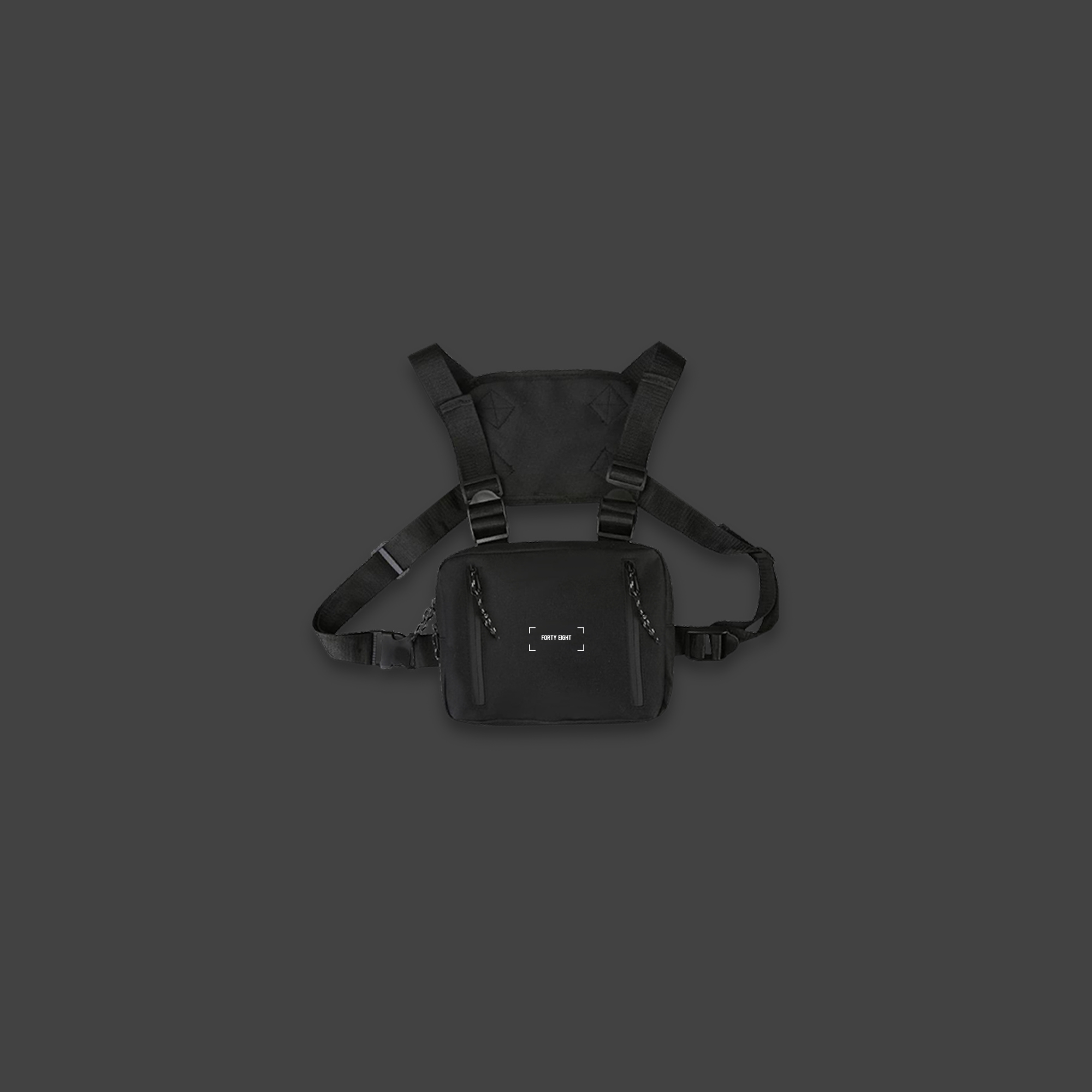 HIP-HOP CHEST BAG - Black
