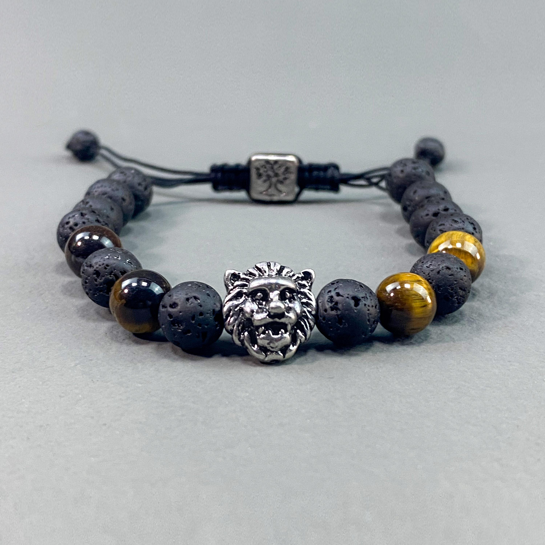 Lion beads bracelet - Black