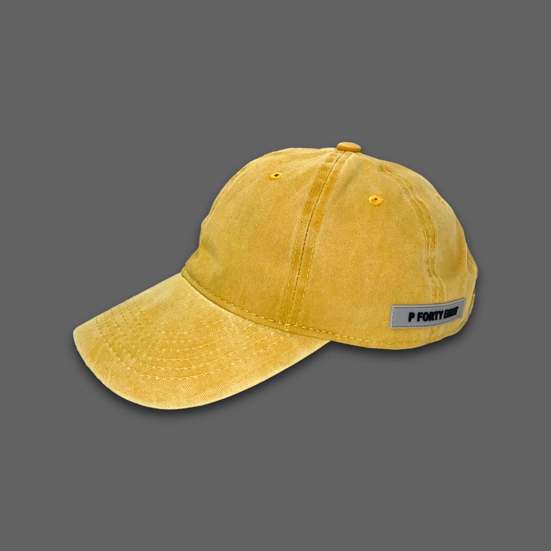 WASHED BASEBALL HAT - Yellow