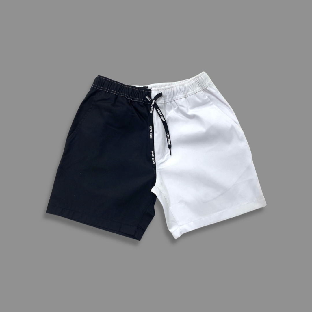 P48 B&W shorts - Black & White