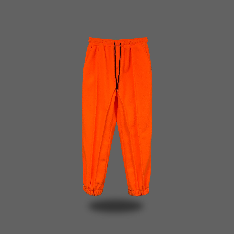 Polar fleece sweatpants  - Orange