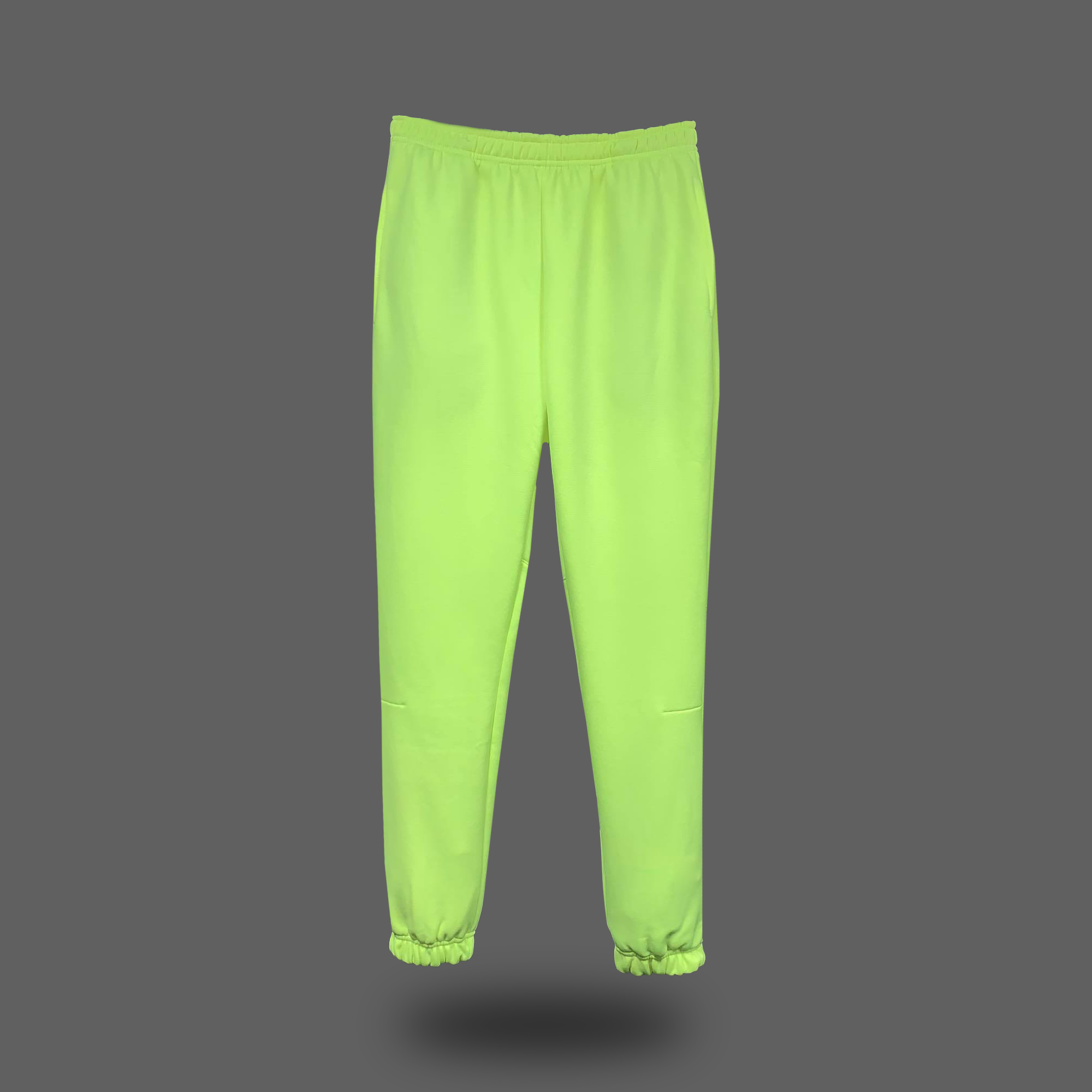 PLAIN SWEATPANTS - Neon Yellow