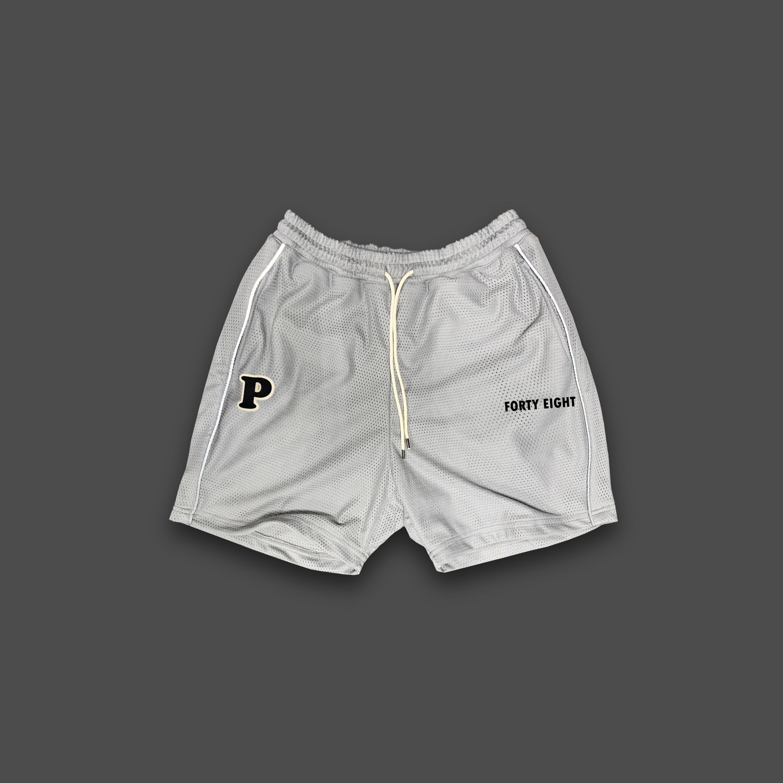 BASKET BALL MESH SHORTS - Grey
