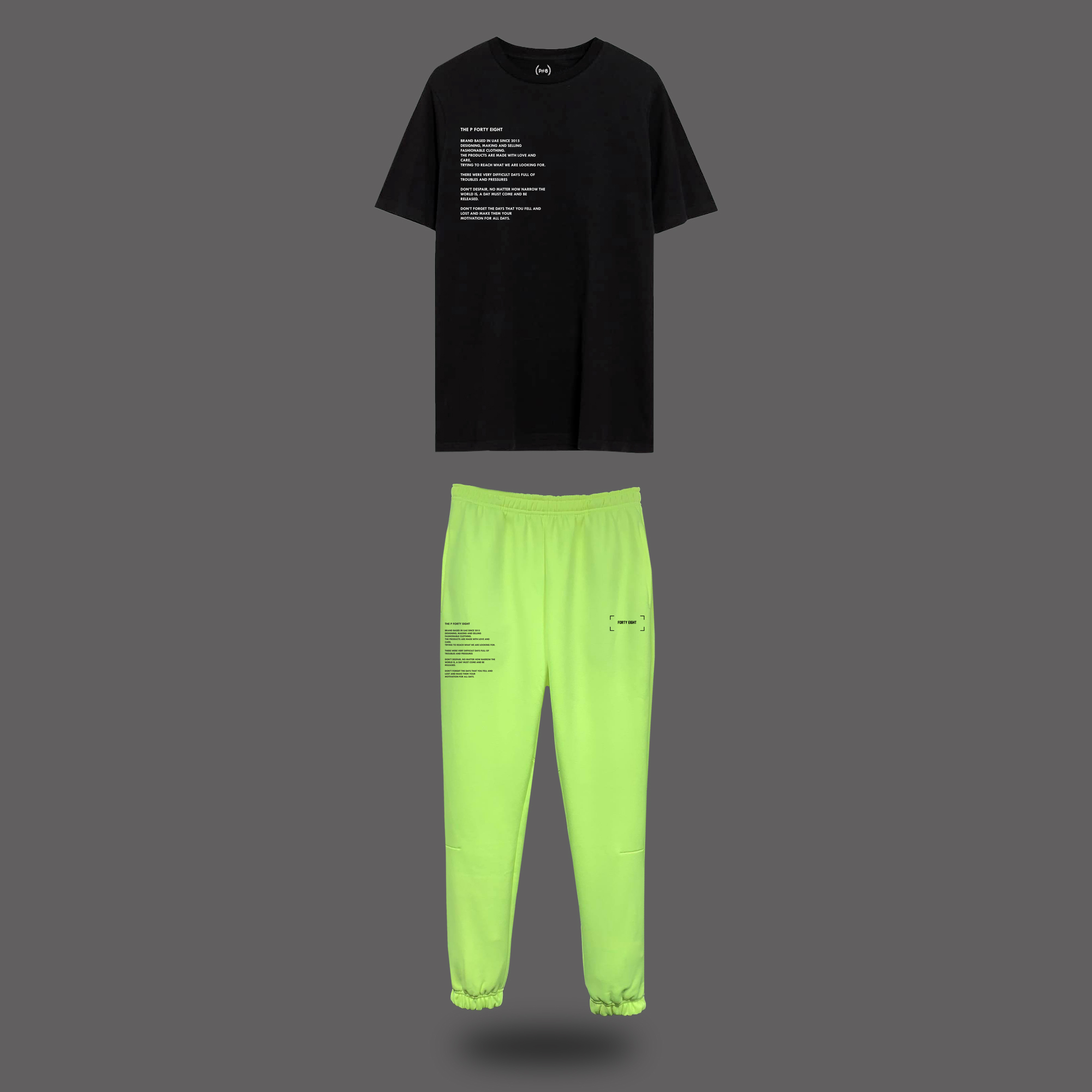 The P Forty Eight Set - Black & Neon Yellow