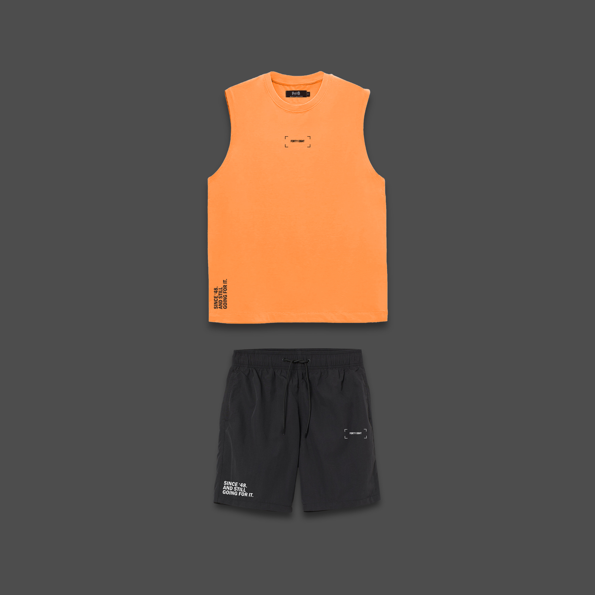 The 48 beach set - Orange & Black