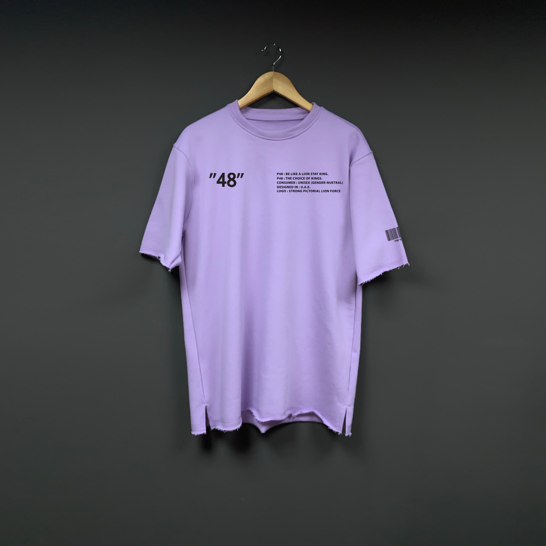 Cold Purple Oversized T-shirt - Purple