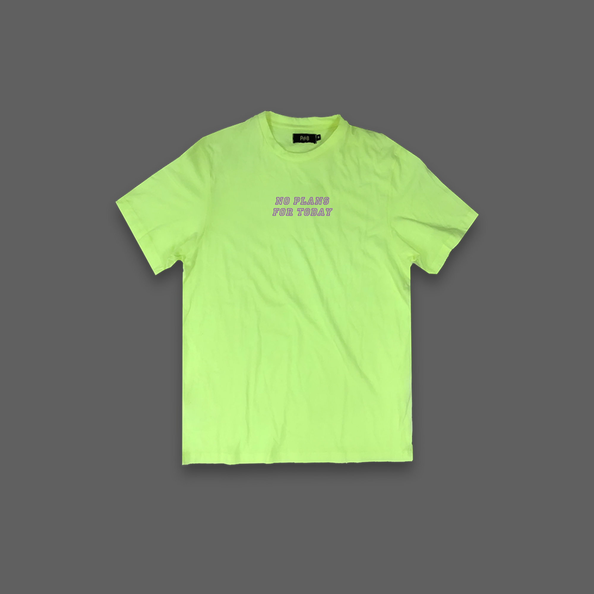 No Plans For Today T-shirt - Neon Yellow