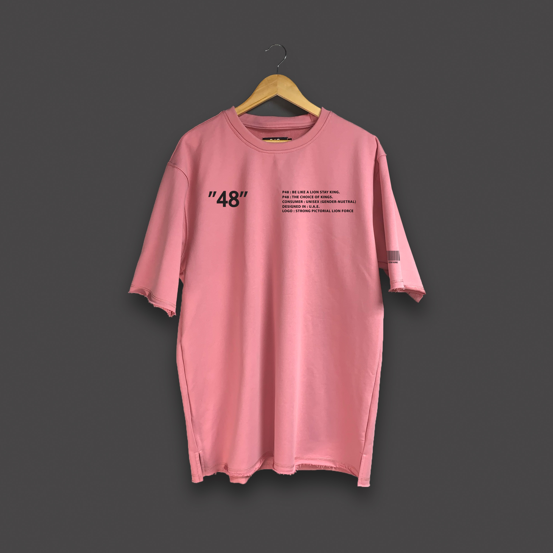 P48 Oversized T-shirt - Baby pink
