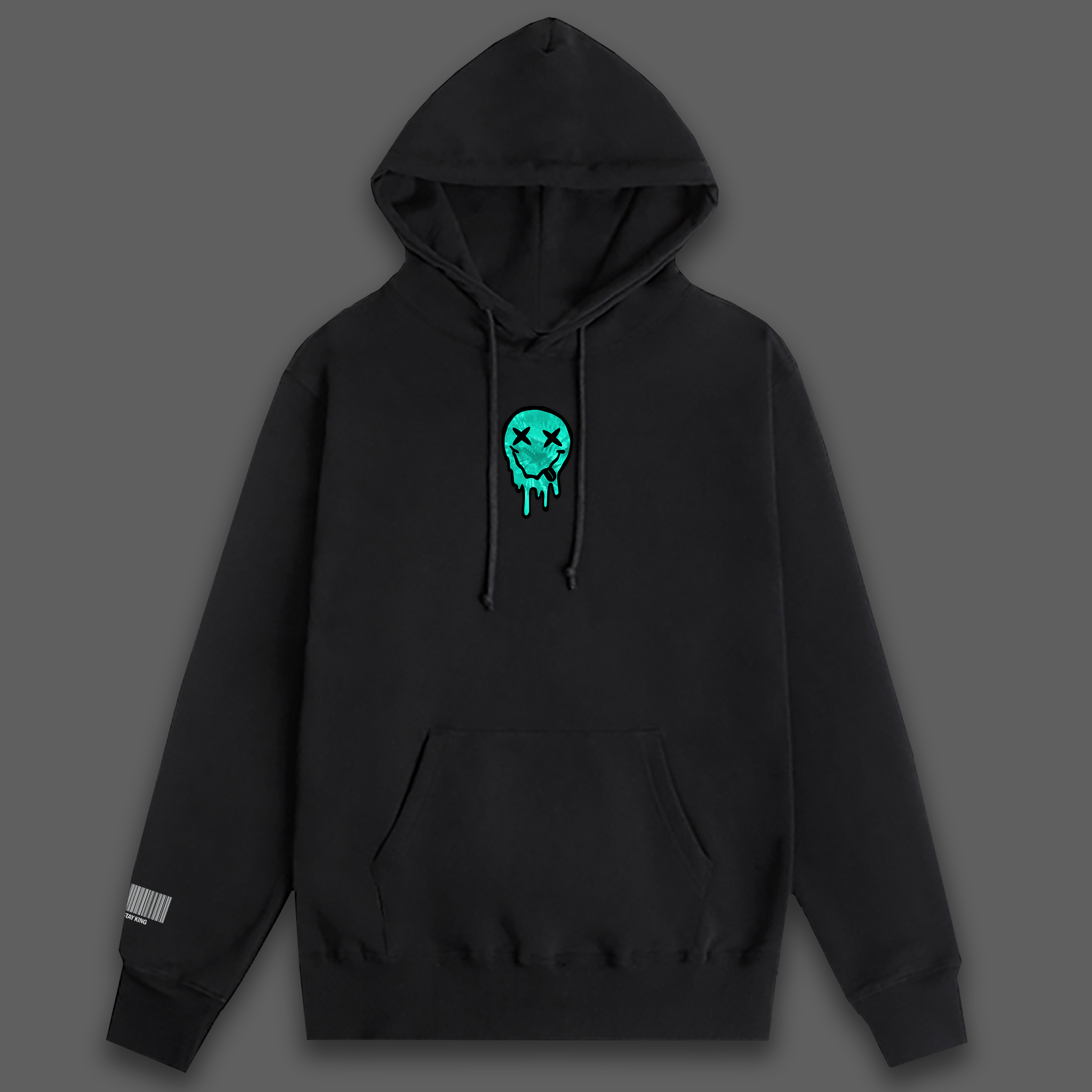 high mode black hoodie - Black