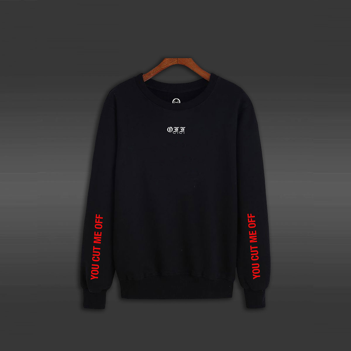 You Cut Me Off Crew Neck Sweater - Black