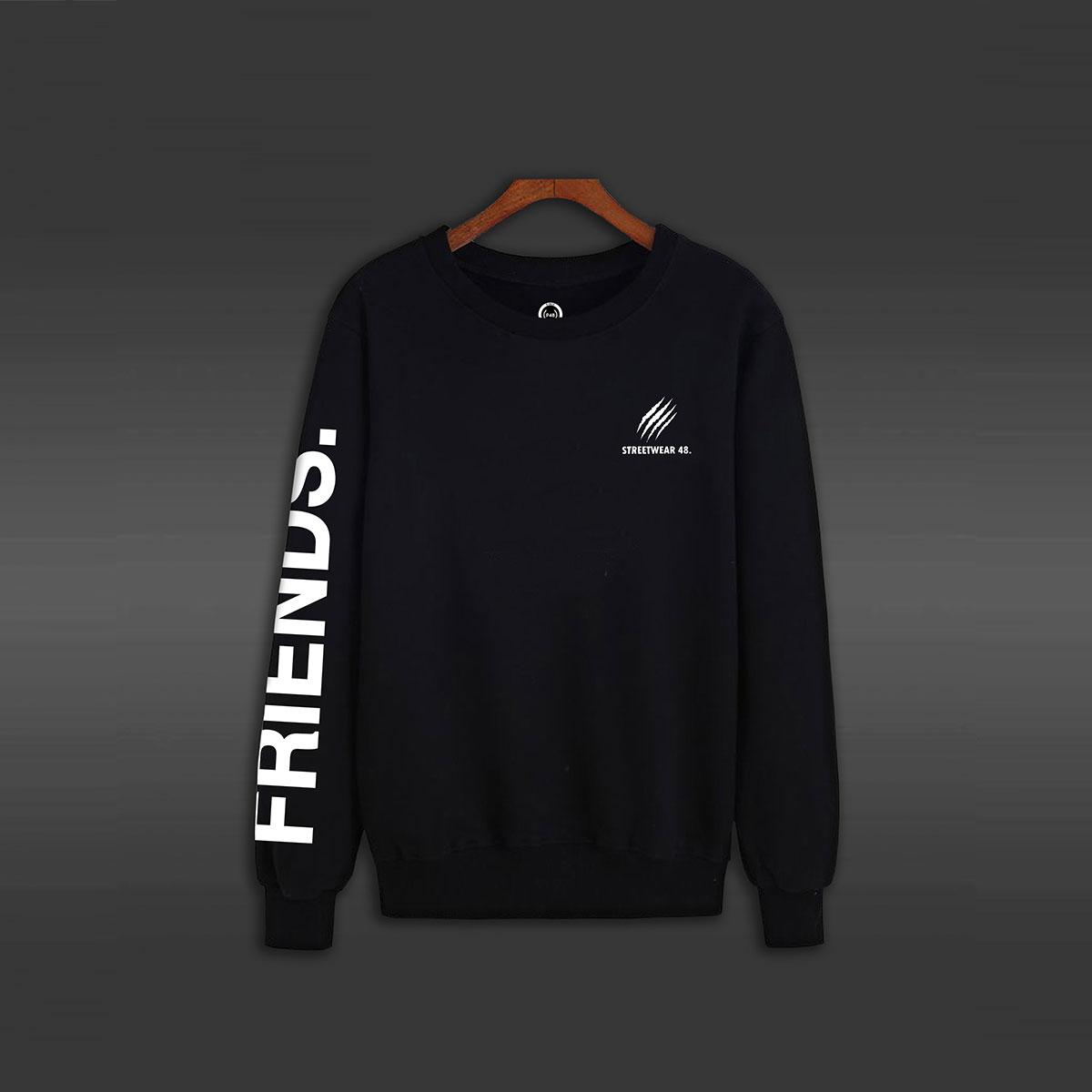 Friends Crew Neck Sweater - Black