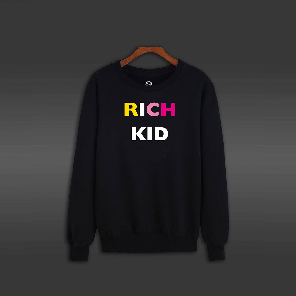 Rich Kid Crew Neck Sweater - Black