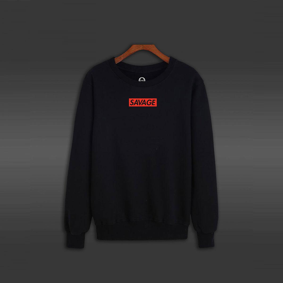 Savage Crew Neck Sweater - Black