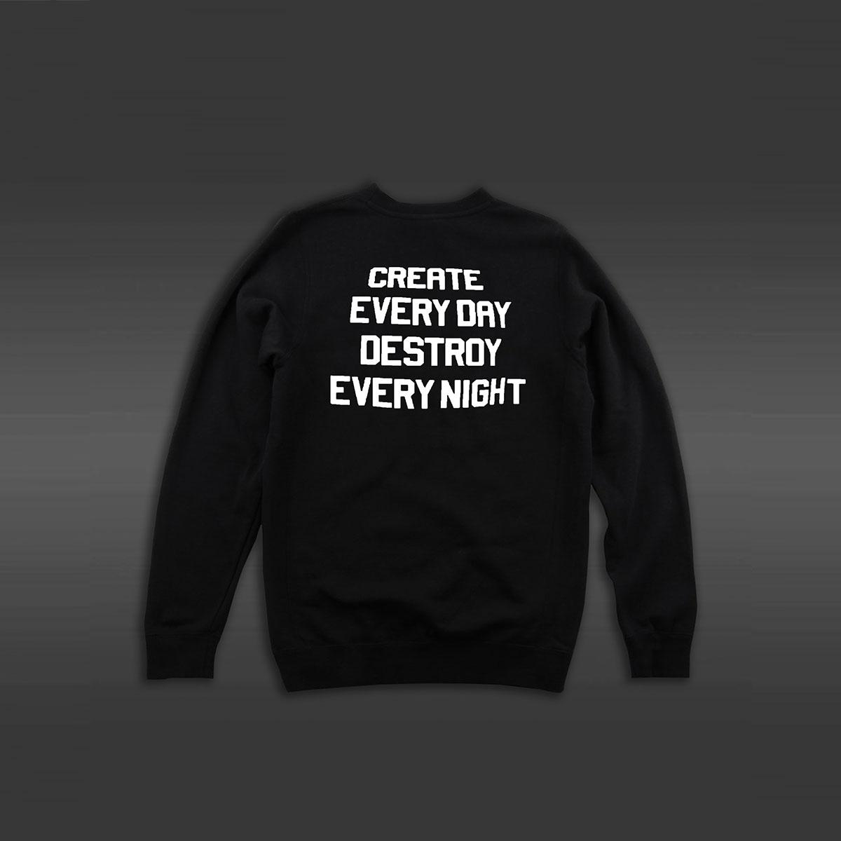Create Everyday Crew Neck Sweater - Black