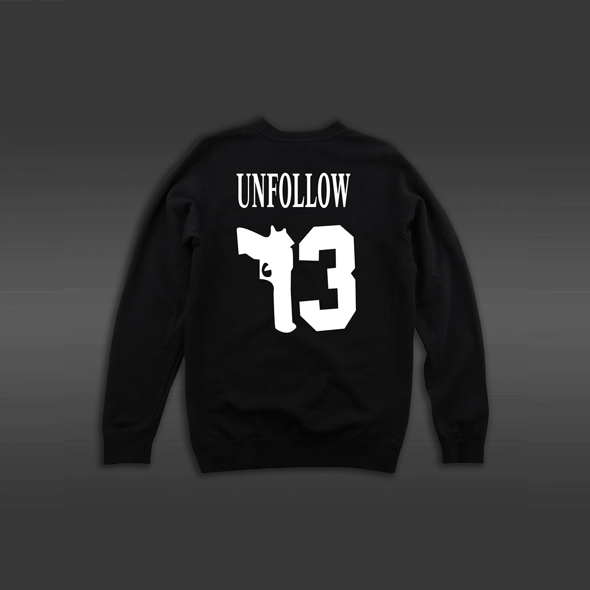 Unfollow Crew Neck Sweater - Black