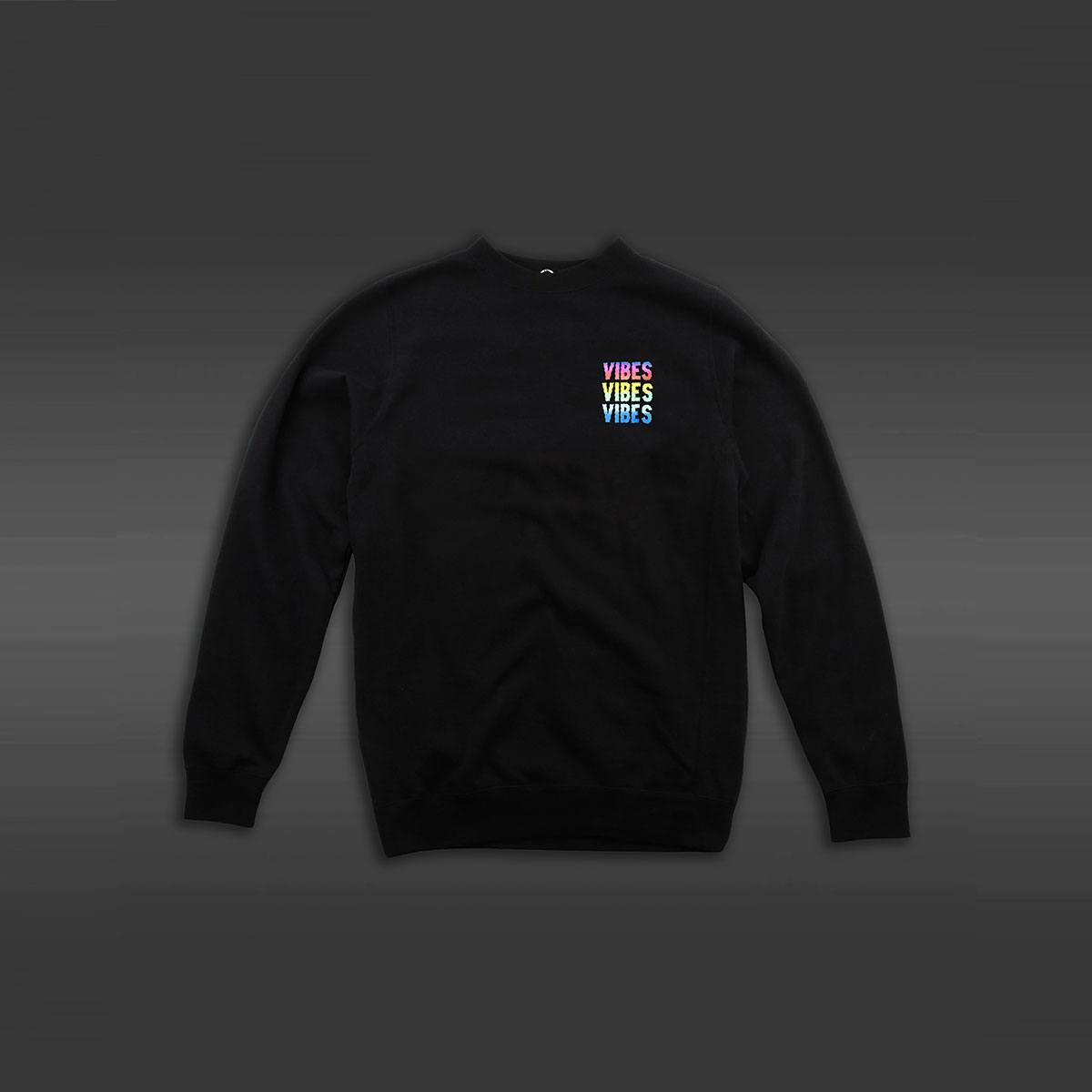 Vibes Crew Neck Sweater - Black