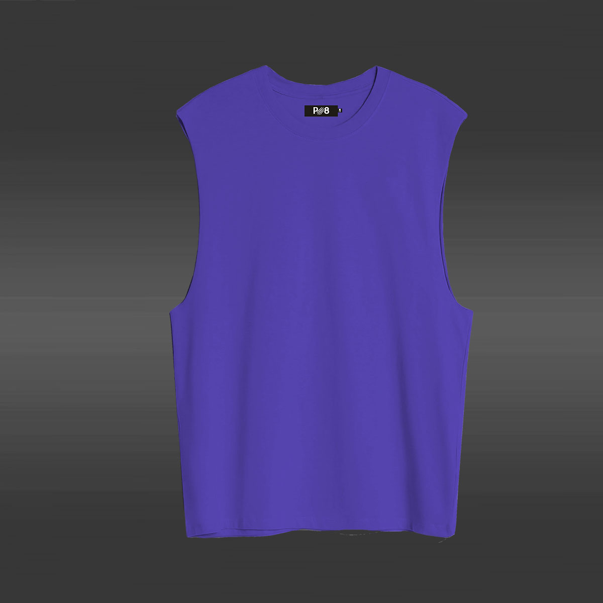 Sleeveless T-shirt with dropped armhole - Purple