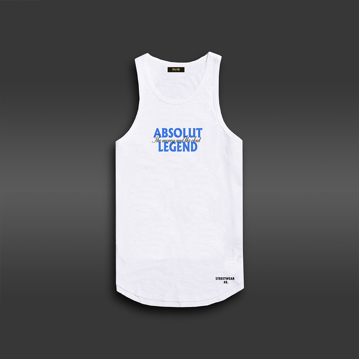 Absolut Legend  Long-line Tank - White