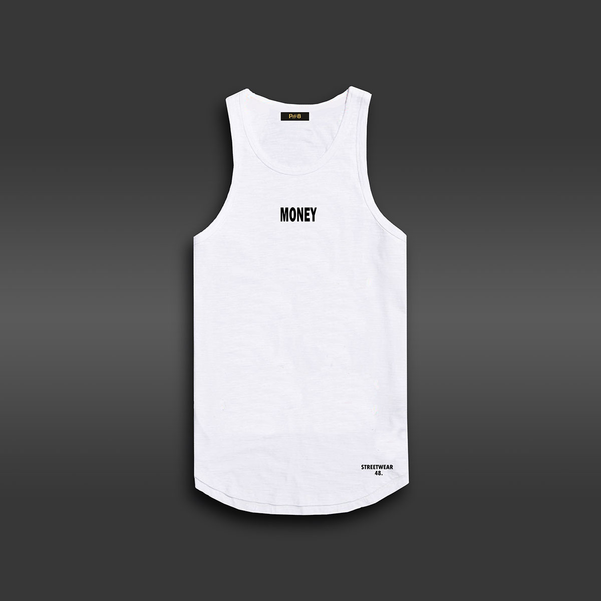 Money Long-line Tank - White
