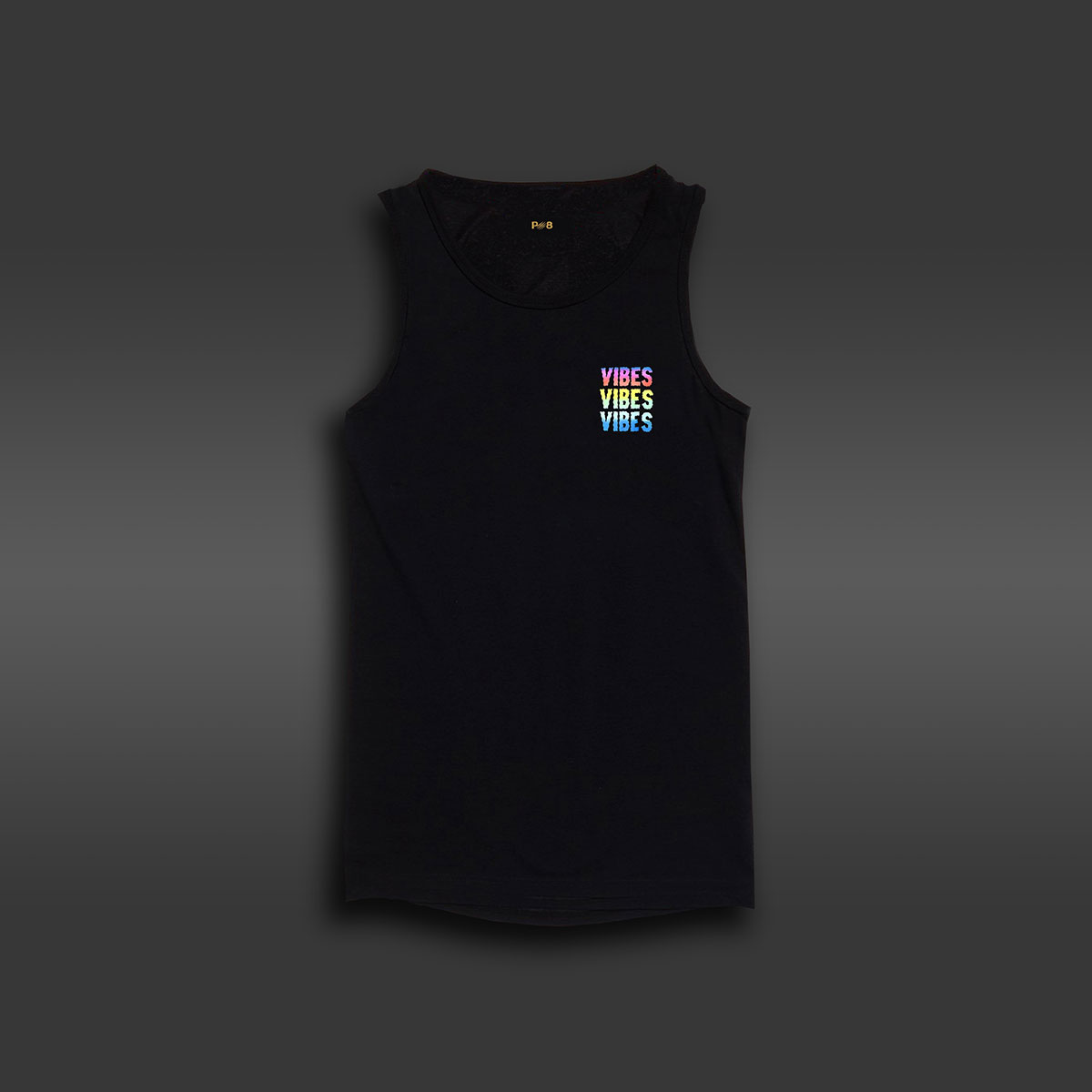 Vibes Long-line Tank - Black