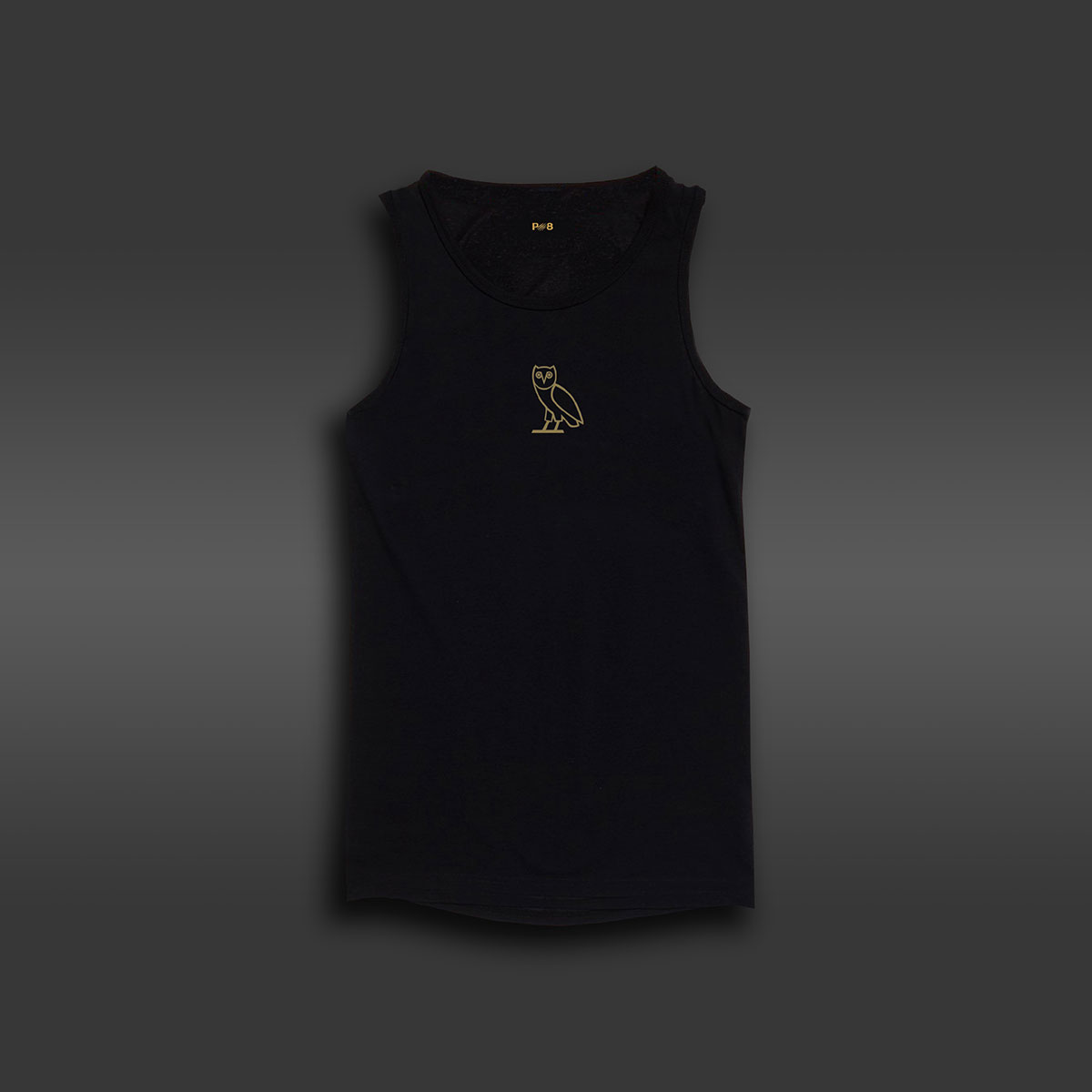 Owl Long-line Tank - Black