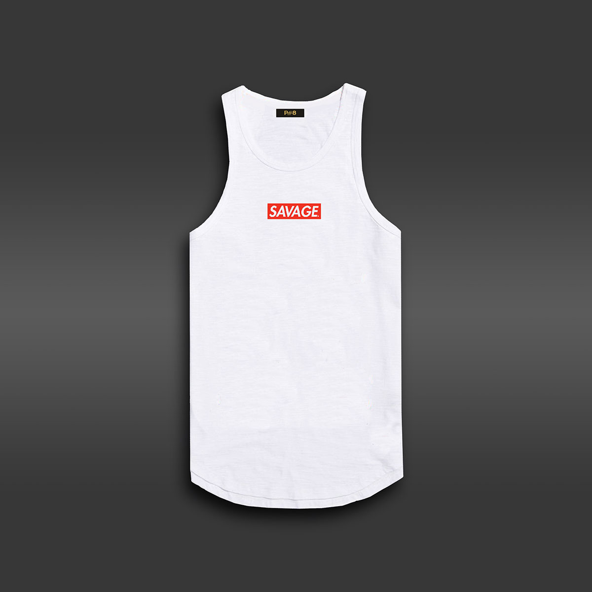 Savage Long-line Tank - White