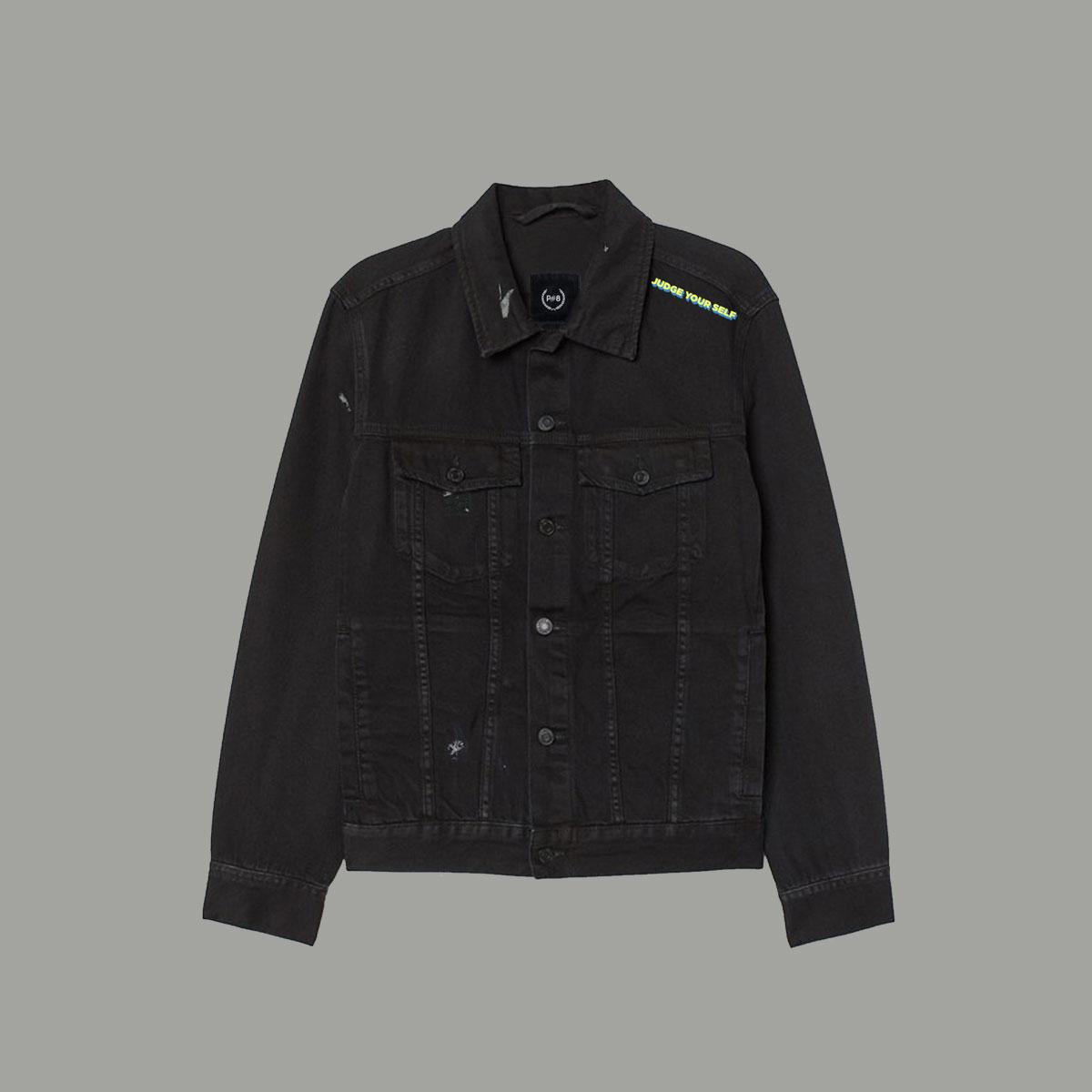 Judge Yourself Jeans Jacket - Black