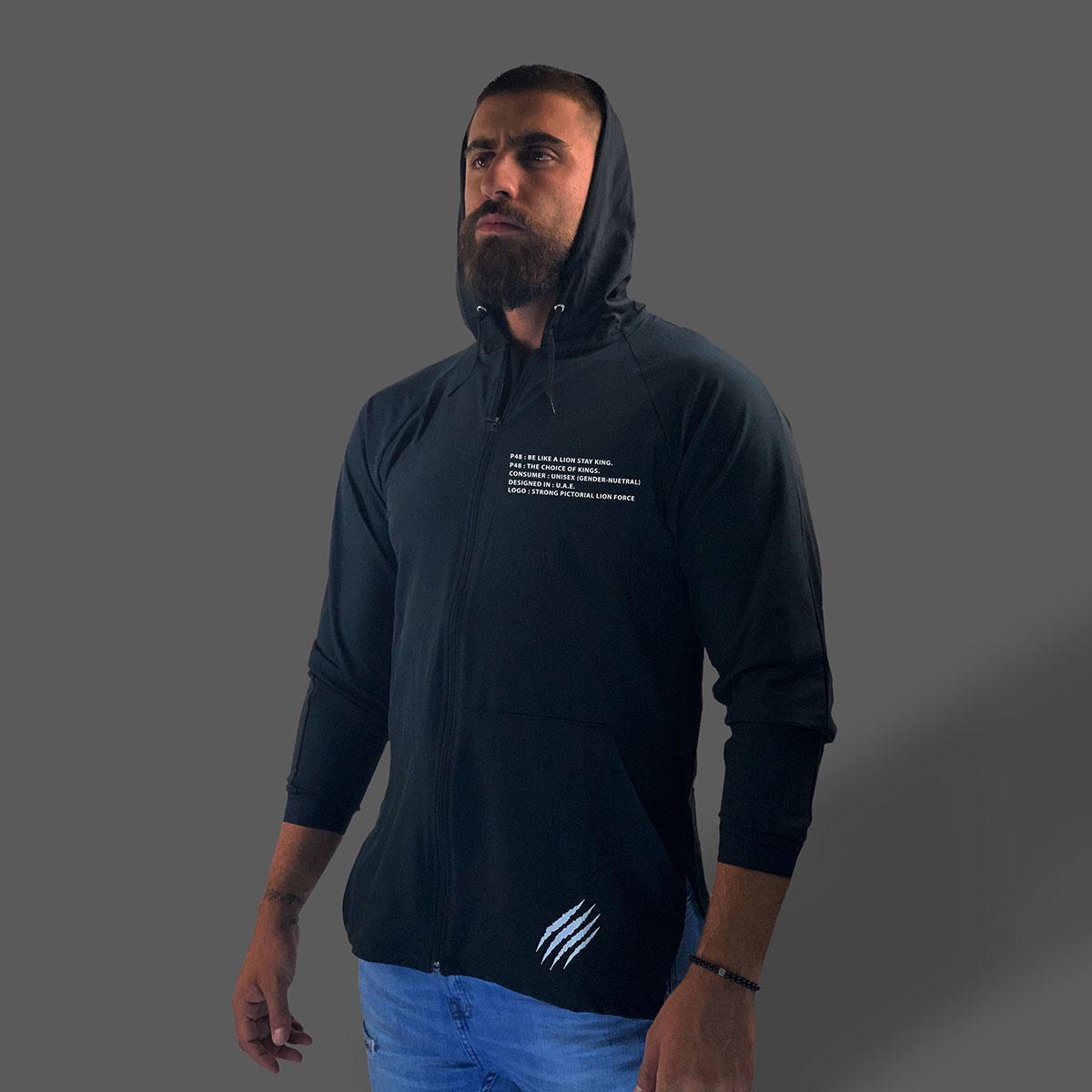 Slim-Fit Waterproof Jacket - Black