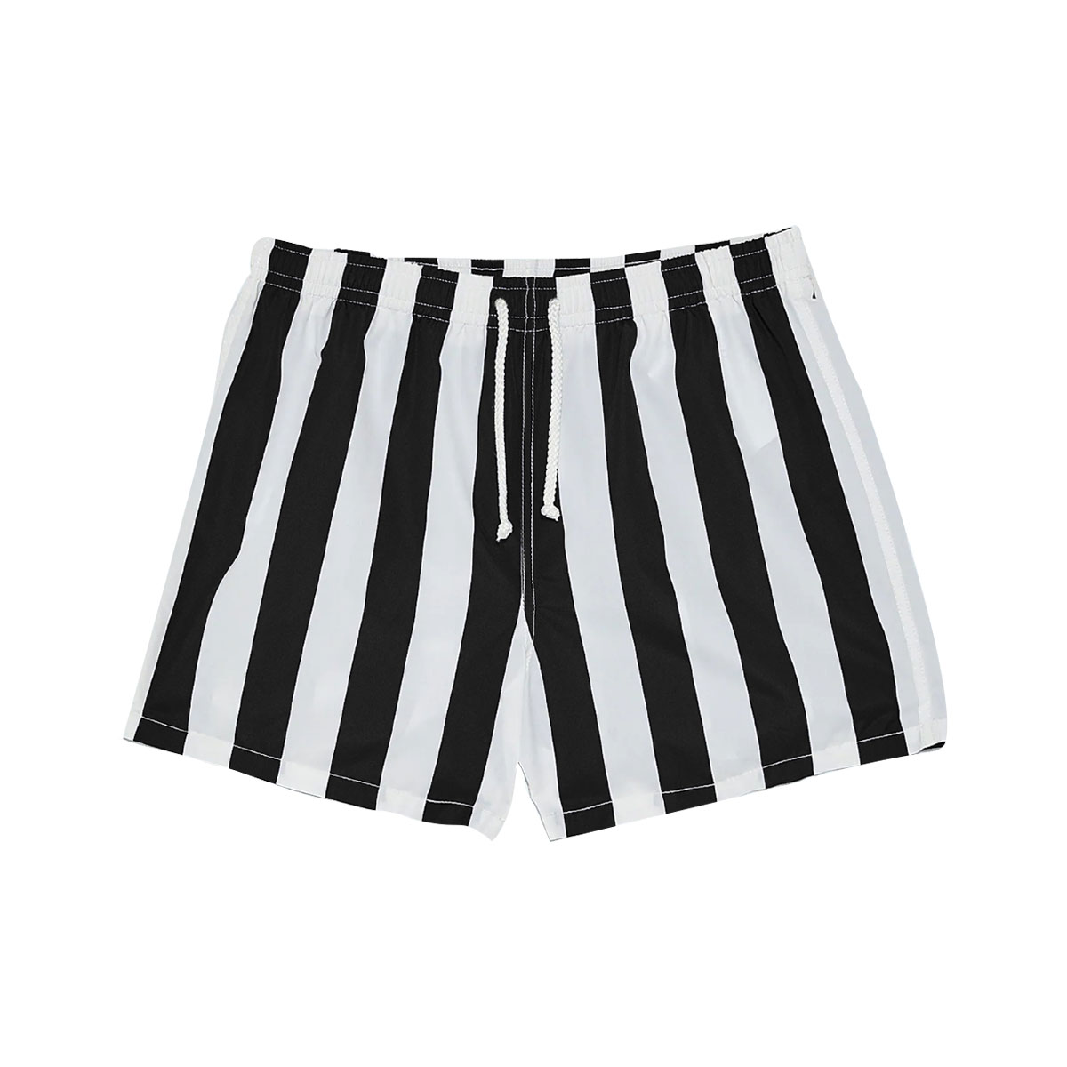 Pinstripe Short - Black & White