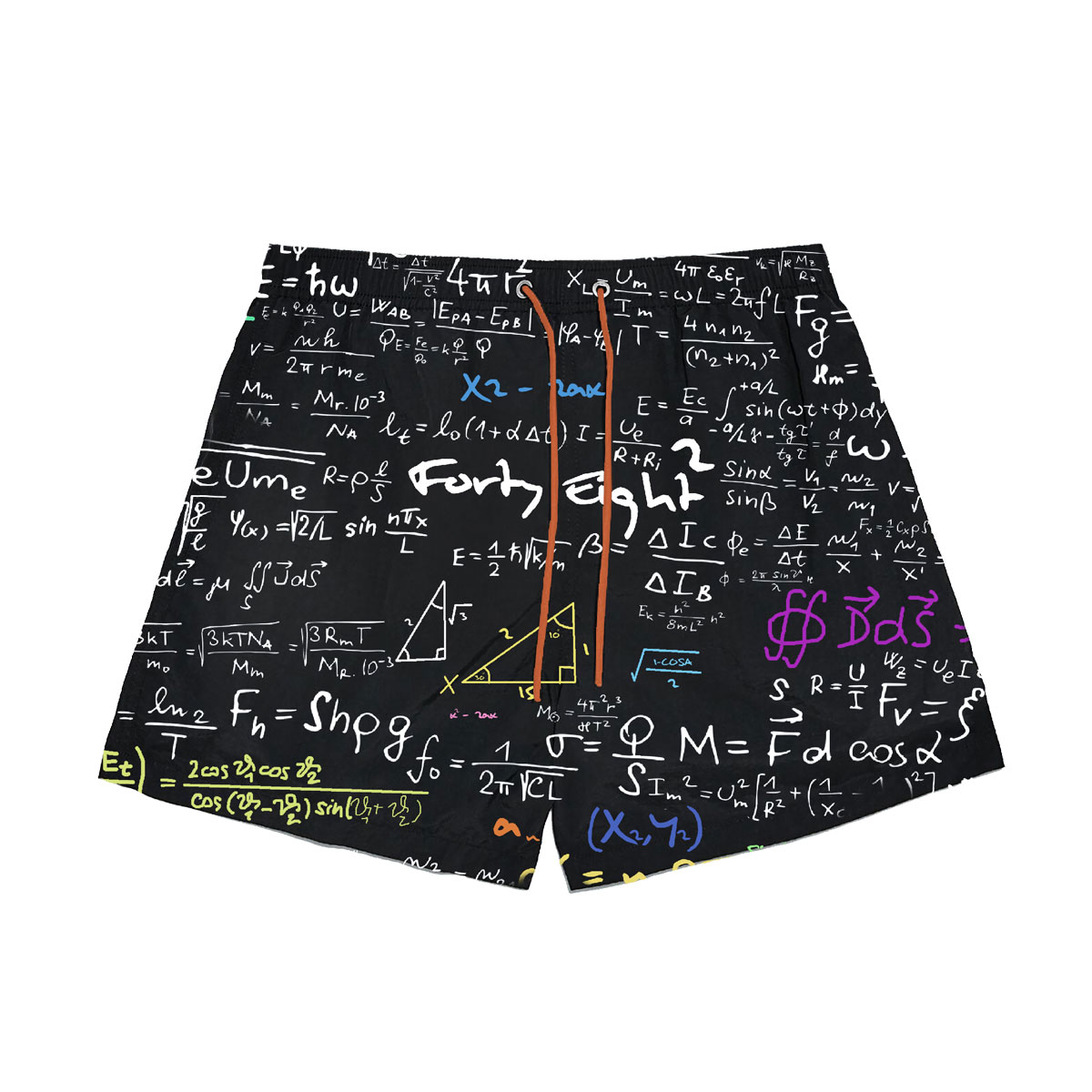 Math Swimming Short - Black