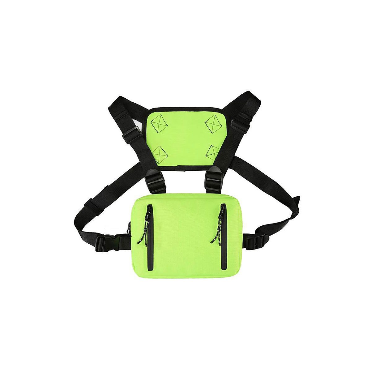Hip-hop Chest Bag - Neon Green